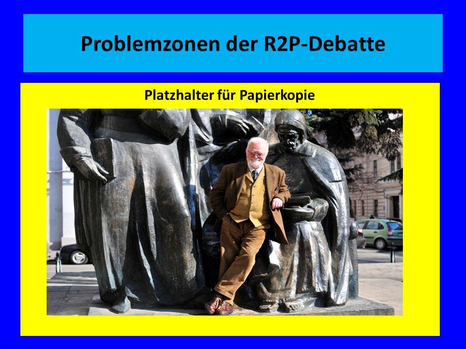 Problemzonen der R2P-Debatte