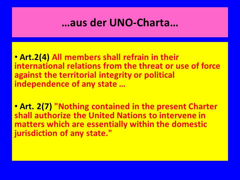 …aus der UNO-Charta…