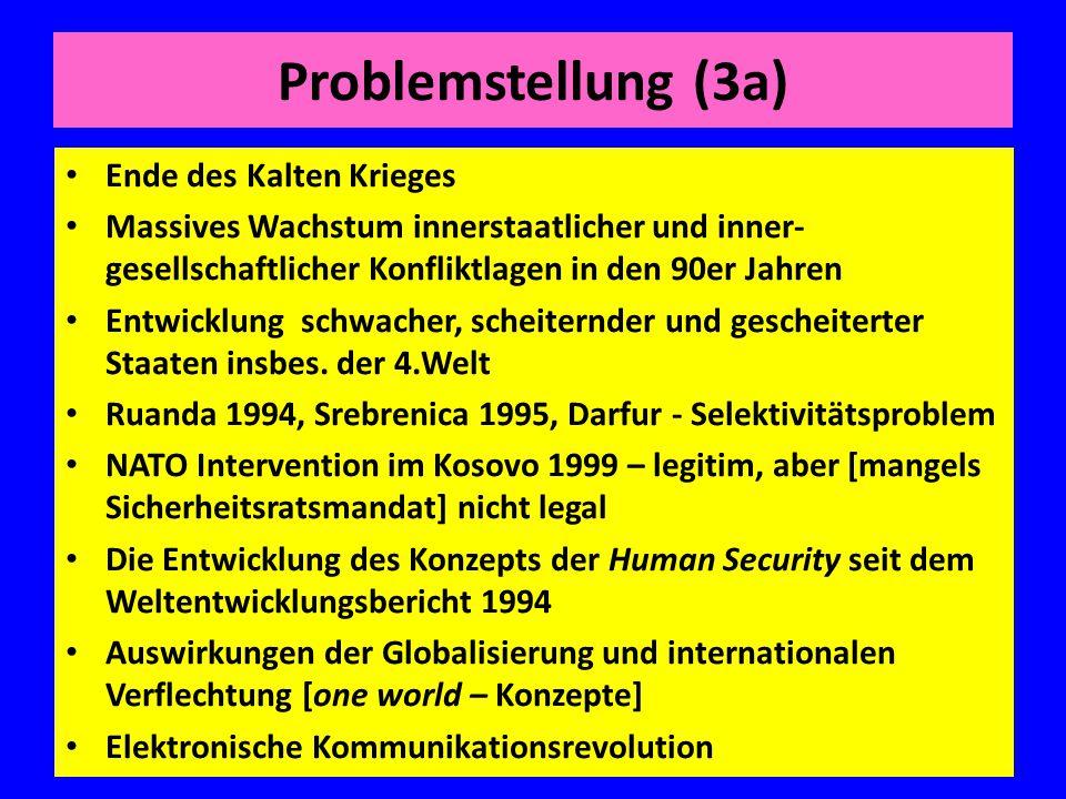 Problemstellung (3a) Ende des Kalten Krieges