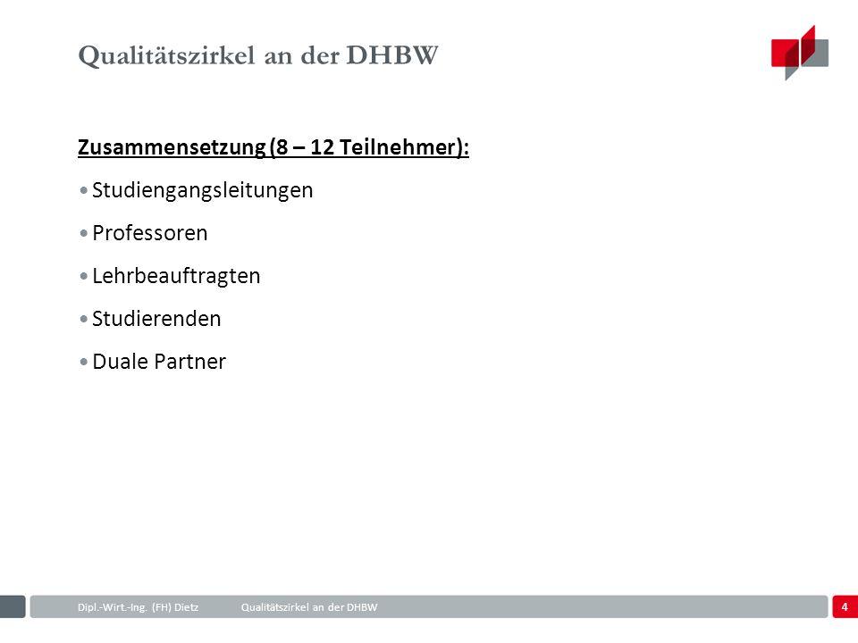 Qualitätszirkel an der DHBW