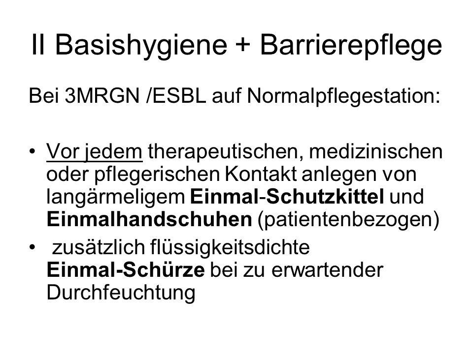 II Basishygiene + Barrierepflege