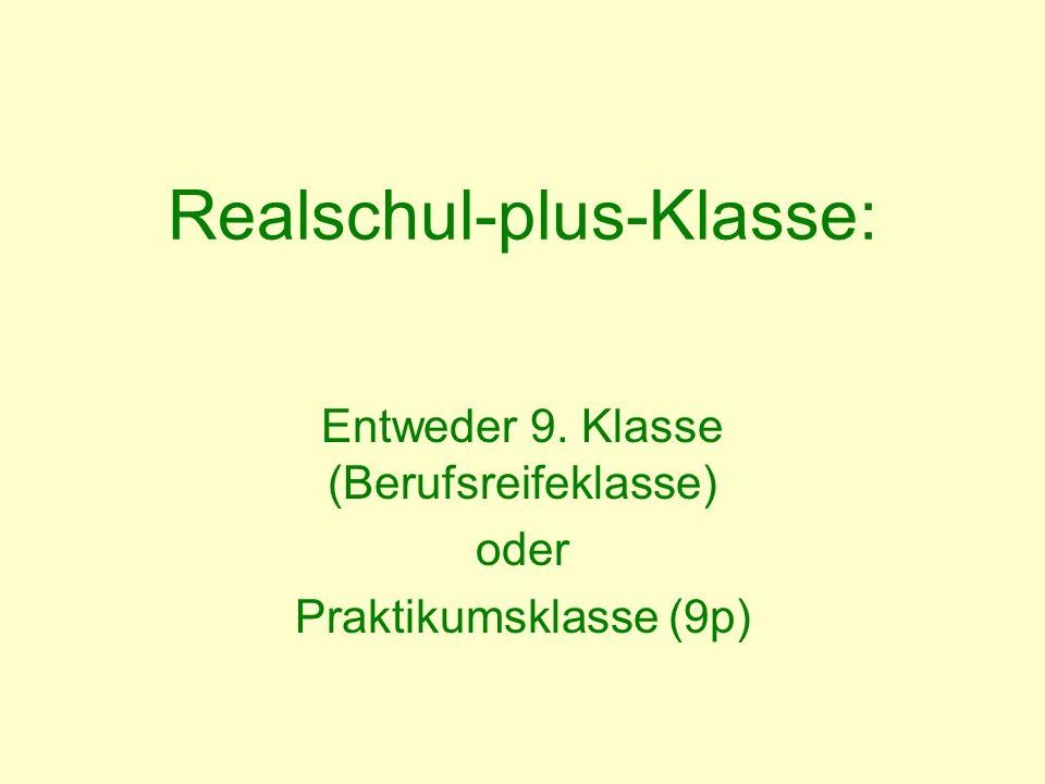 Realschul-plus-Klasse: