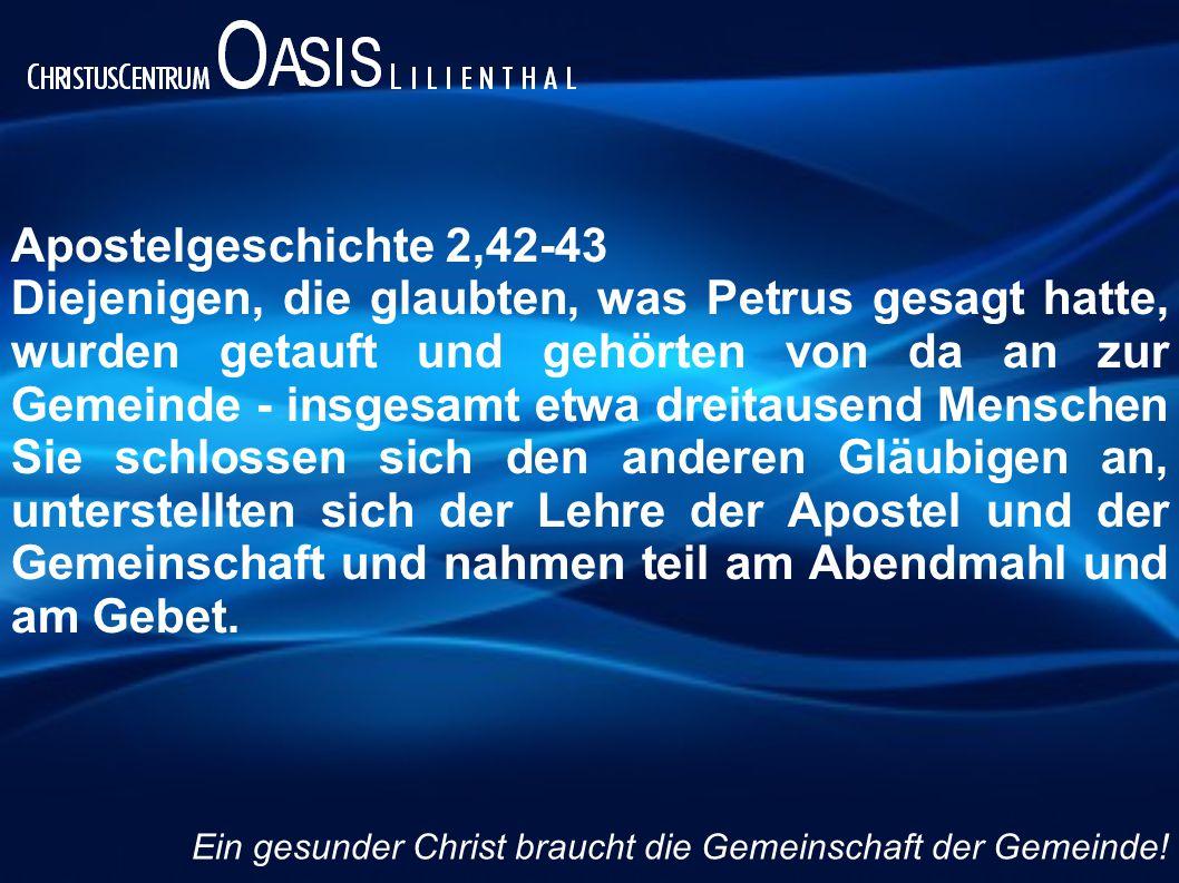 Apostelgeschichte 2,42-43