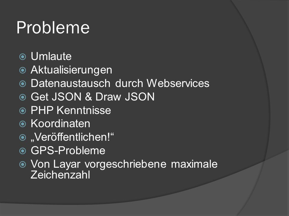 Probleme Umlaute Aktualisierungen Datenaustausch durch Webservices