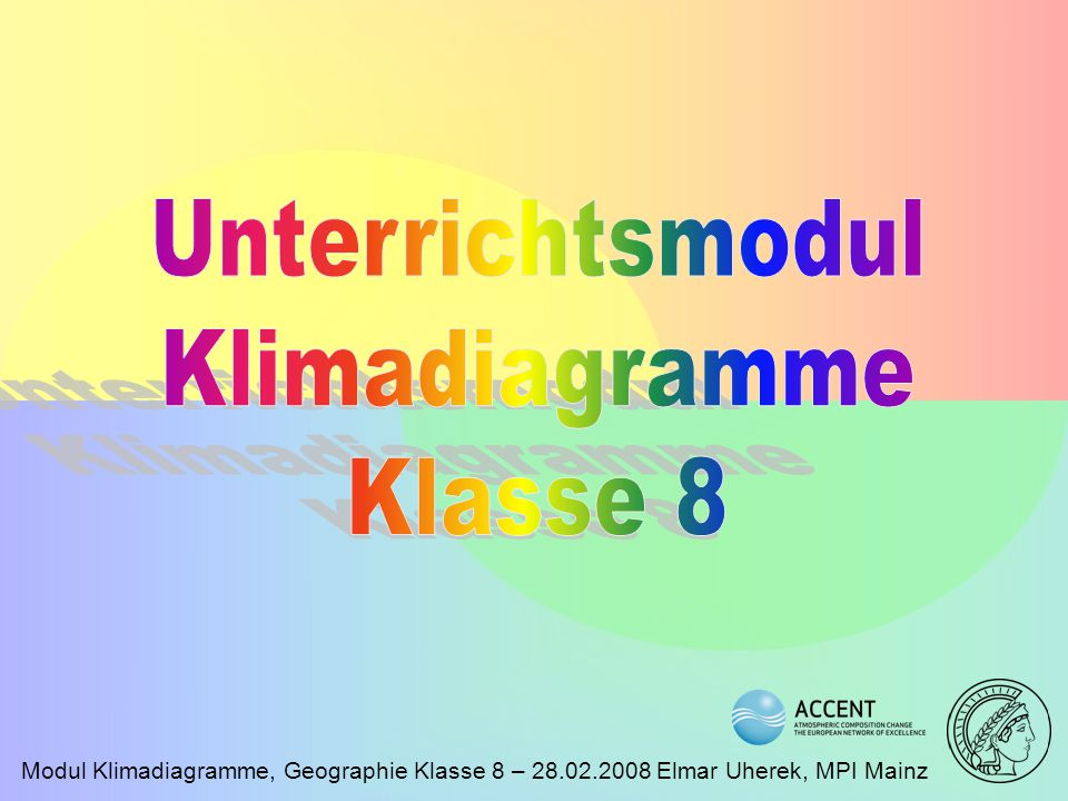 Unterrichtsmodul Klimadiagramme Klasse 8