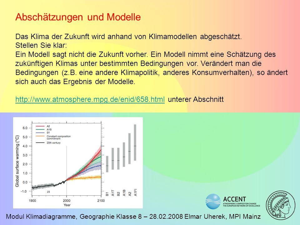 Abschätzungen und Modelle