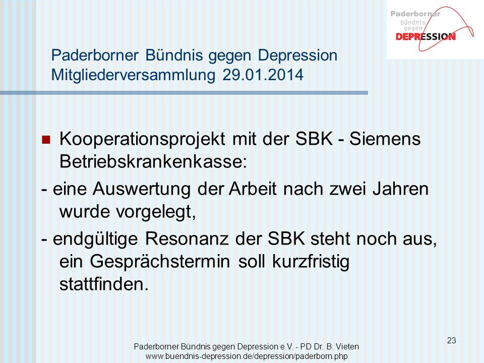 Kooperationsprojekt mit der SBK - Siemens Betriebskrankenkasse: