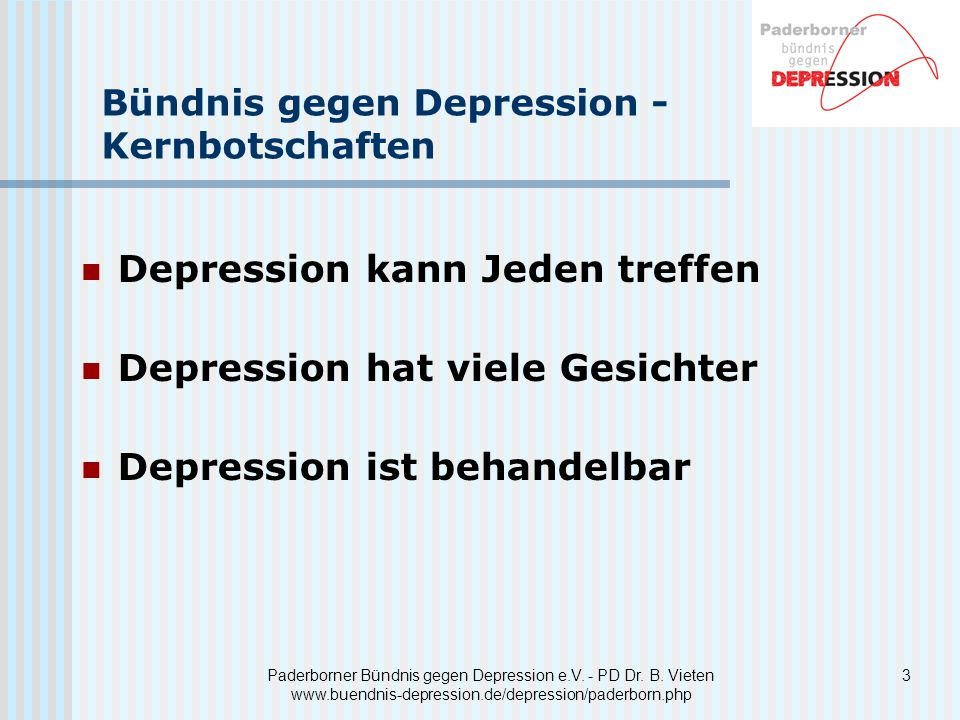 Depression kann Jeden treffen Depression hat viele Gesichter