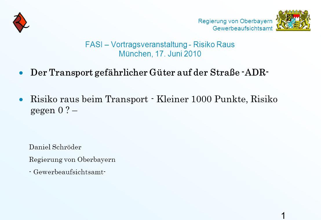 FASI – Vortragsveranstaltung - Risiko Raus München, 17. Juni 2010