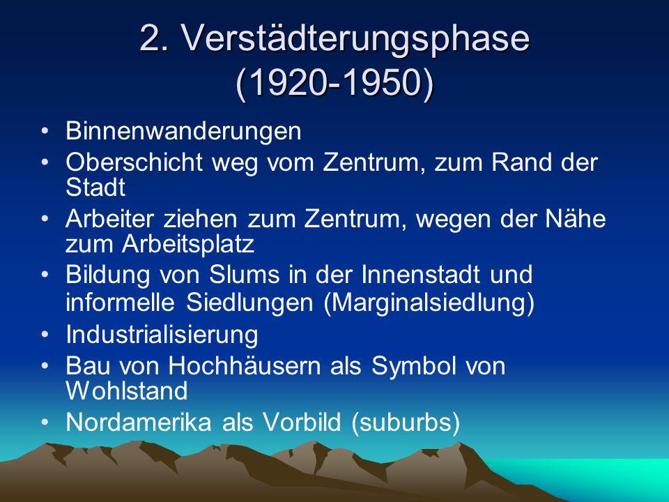 2. Verstädterungsphase (1920-1950)