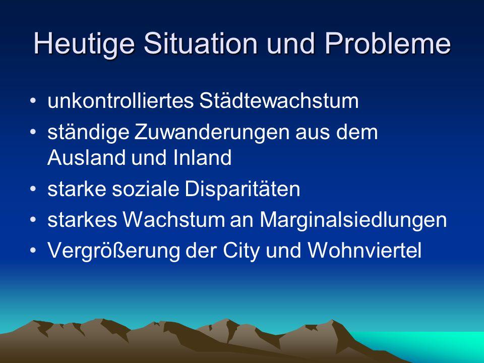 Heutige Situation und Probleme