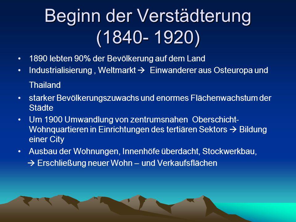 Beginn der Verstädterung (1840- 1920)
