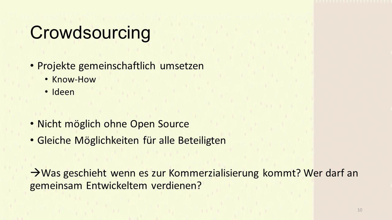 Crowdsourcing Projekte gemeinschaftlich umsetzen