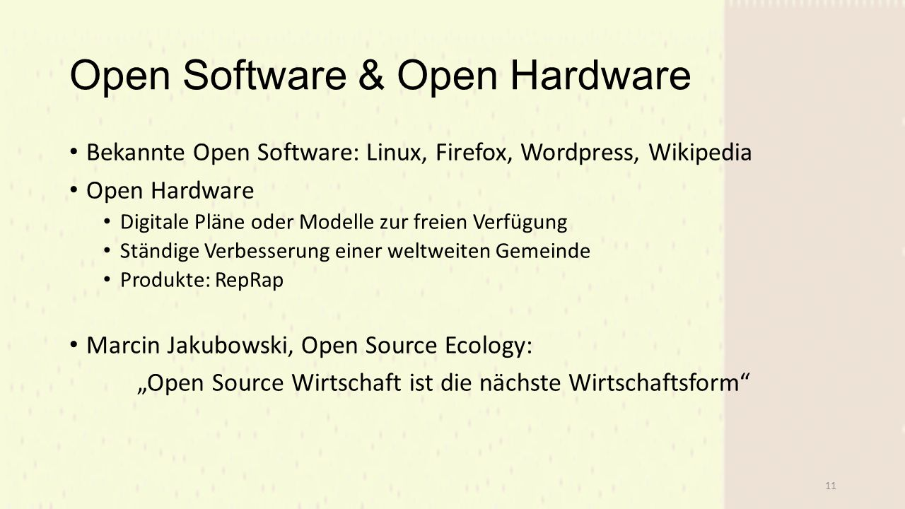 Open Software & Open Hardware