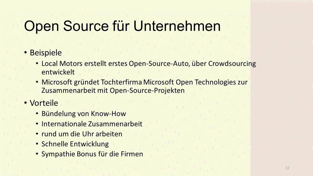 Open Source für Unternehmen