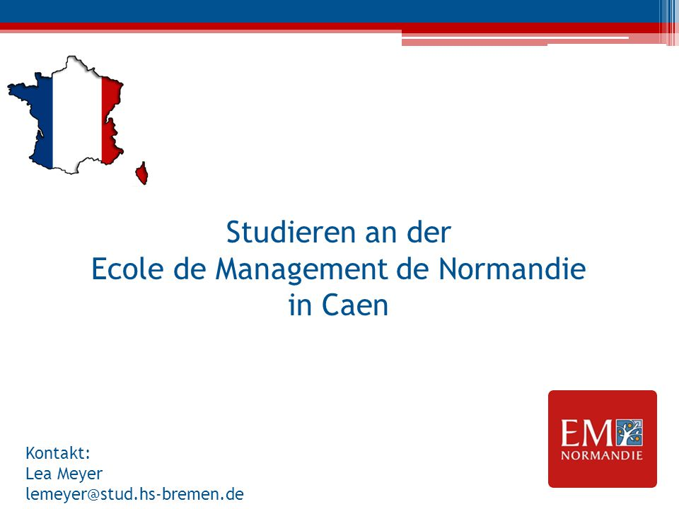 Studieren an der Ecole de Management de Normandie in Caen