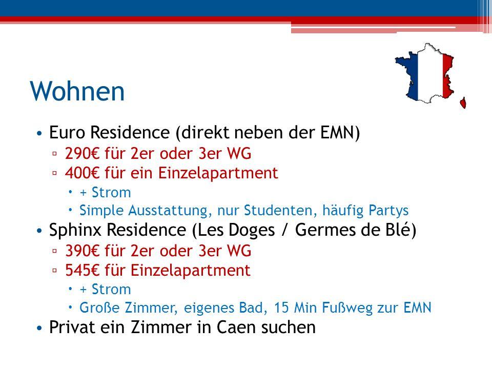 Wohnen Euro Residence (direkt neben der EMN)