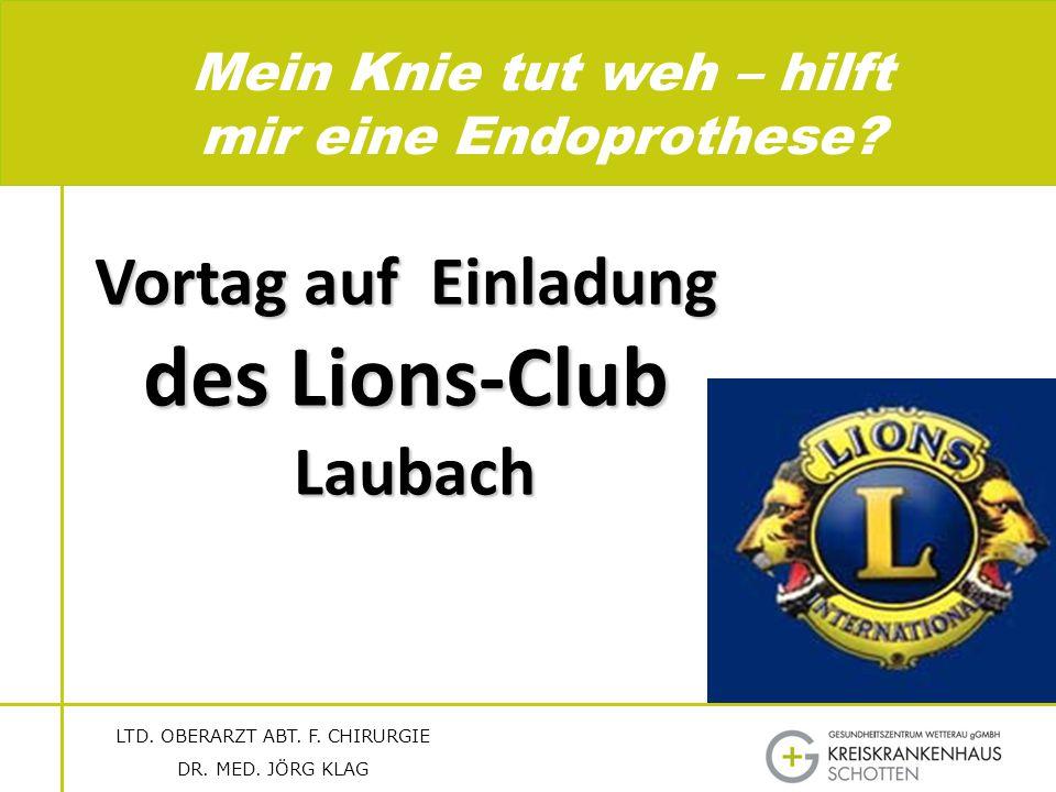 des Lions-Club Vortag auf Einladung Laubach