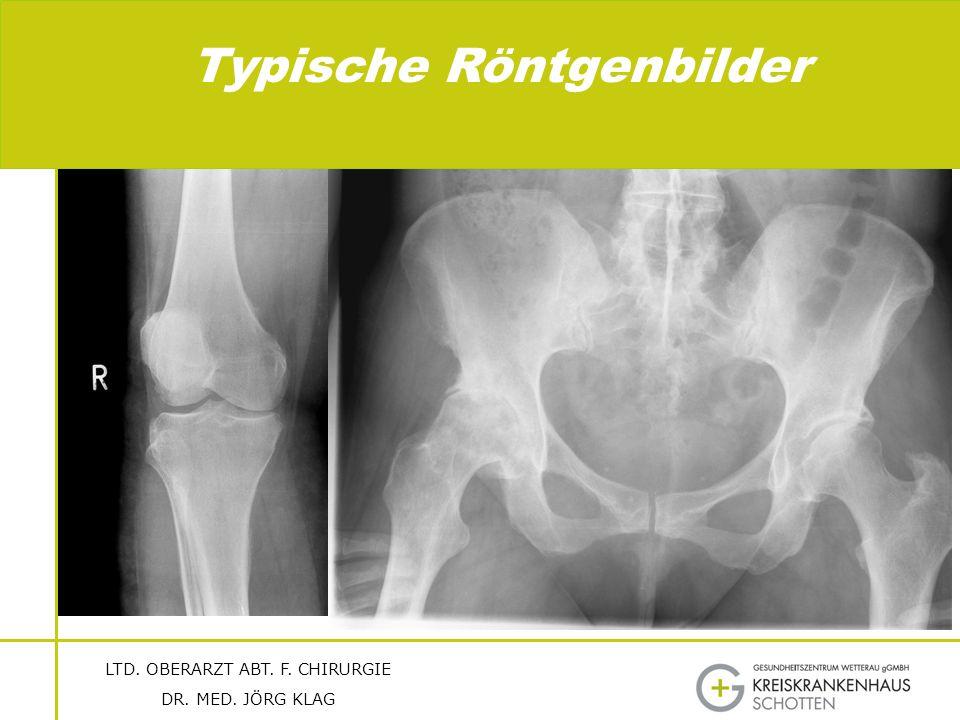 Typische Röntgenbilder