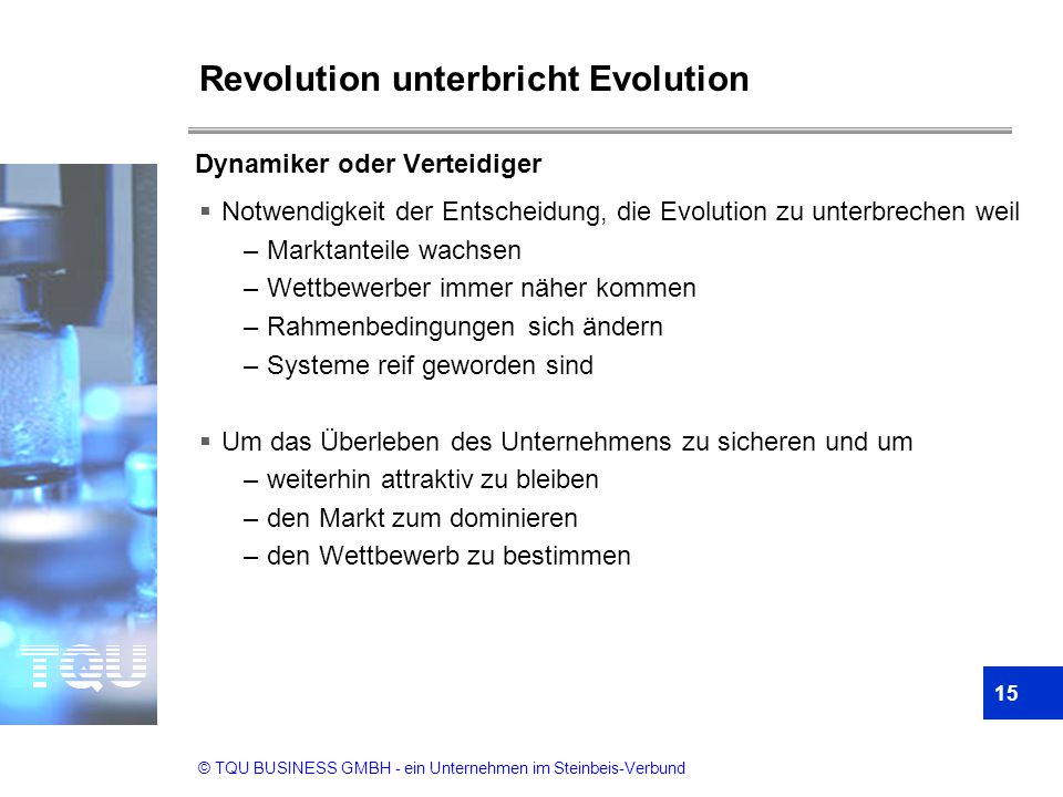 Revolution unterbricht Evolution