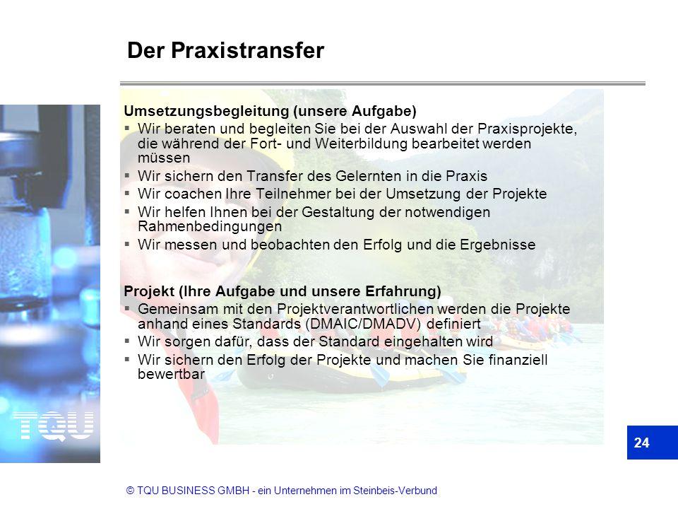 Der Praxistransfer Umsetzungsbegleitung (unsere Aufgabe)