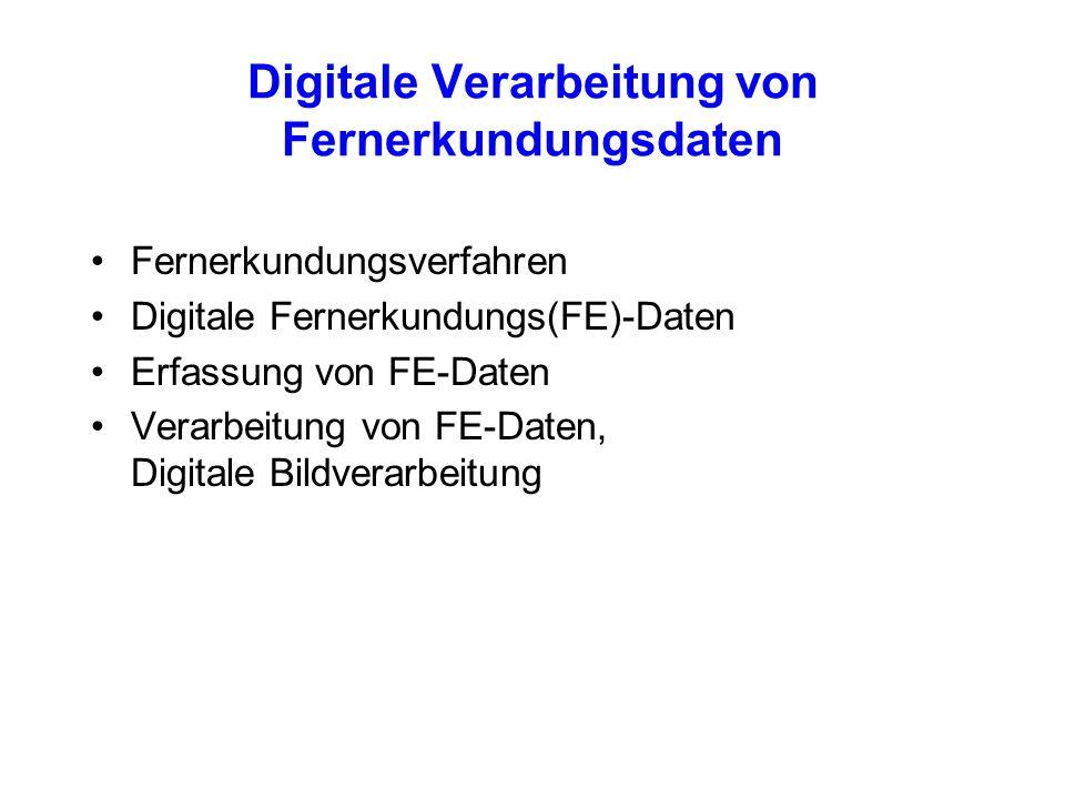 Digitale Verarbeitung von Fernerkundungsdaten