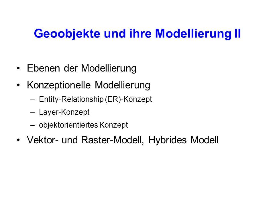 Geoobjekte und ihre Modellierung II