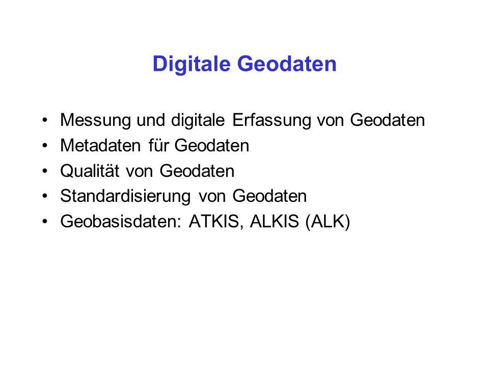 Digitale Geodaten Messung und digitale Erfassung von Geodaten
