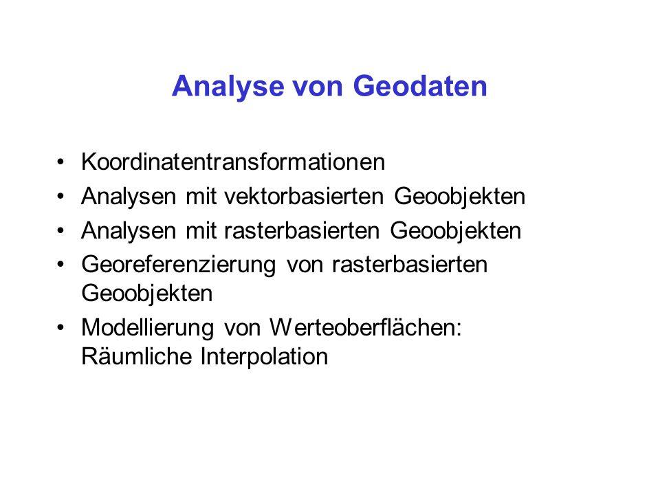 Analyse von Geodaten Koordinatentransformationen
