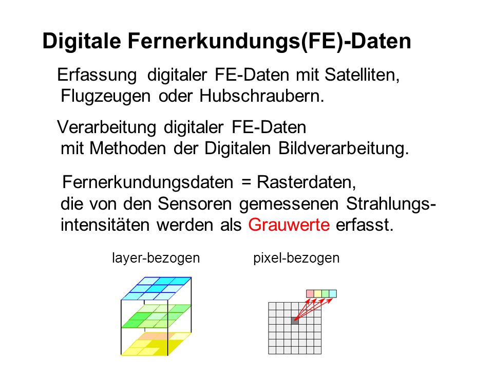 Digitale Fernerkundungs(FE)-Daten