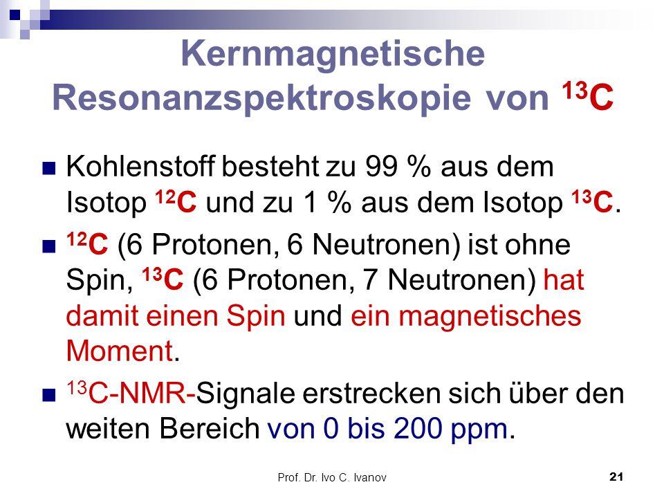 Kernmagnetische Resonanzspektroskopie von 13C