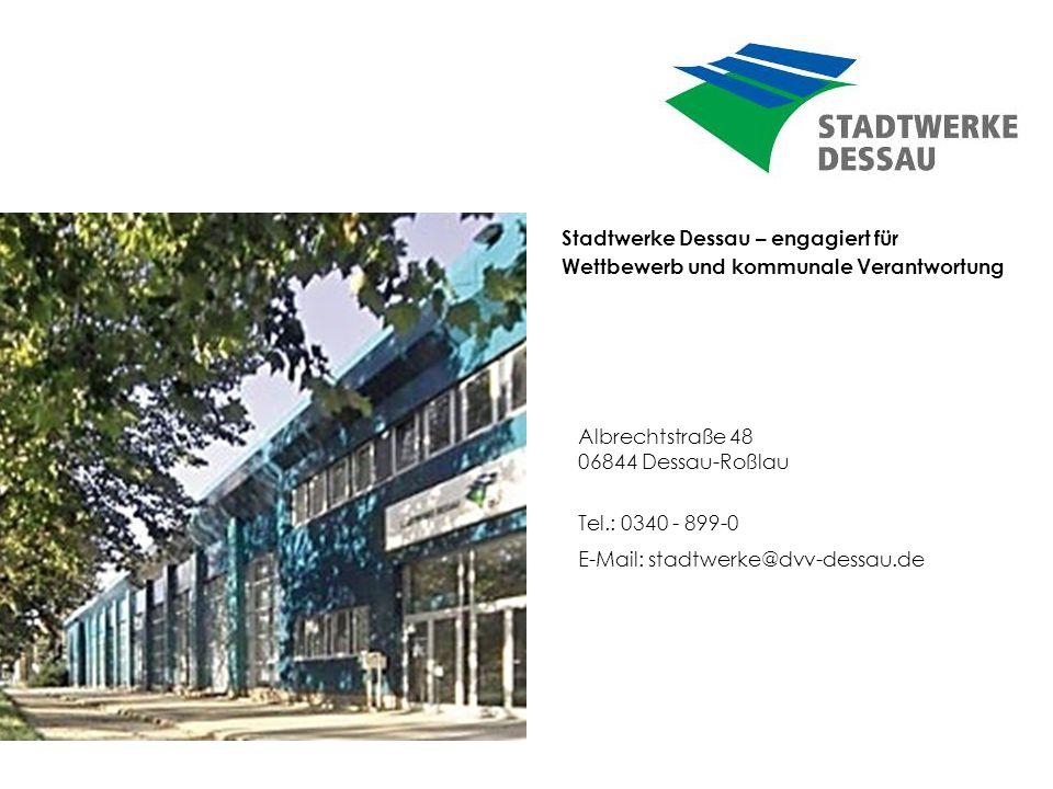 Stadtwerke Dessau – engagiert für