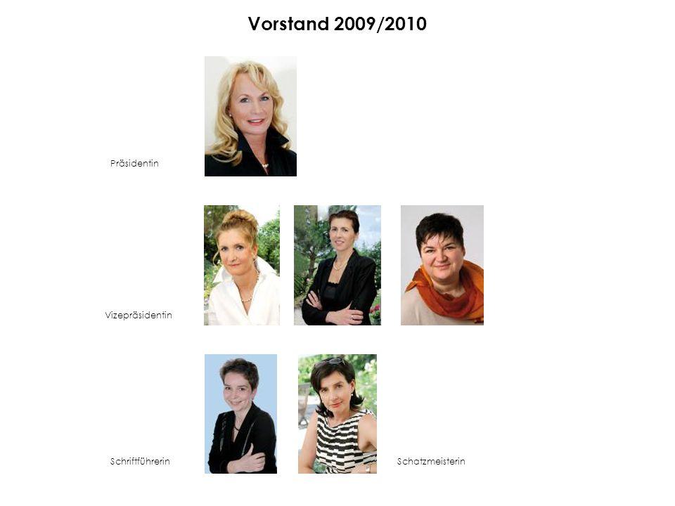 Vorstand 2009/2010 Präsidentin Vizepräsidentin Schriftführerin