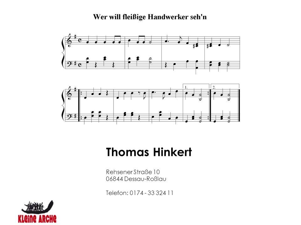 Thomas Hinkert Rehsener Straße 10 06844 Dessau-Roßlau