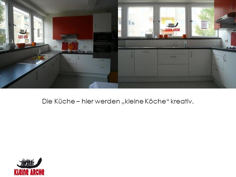 """Die Küche – hier werden """"kleine Köche kreativ."""