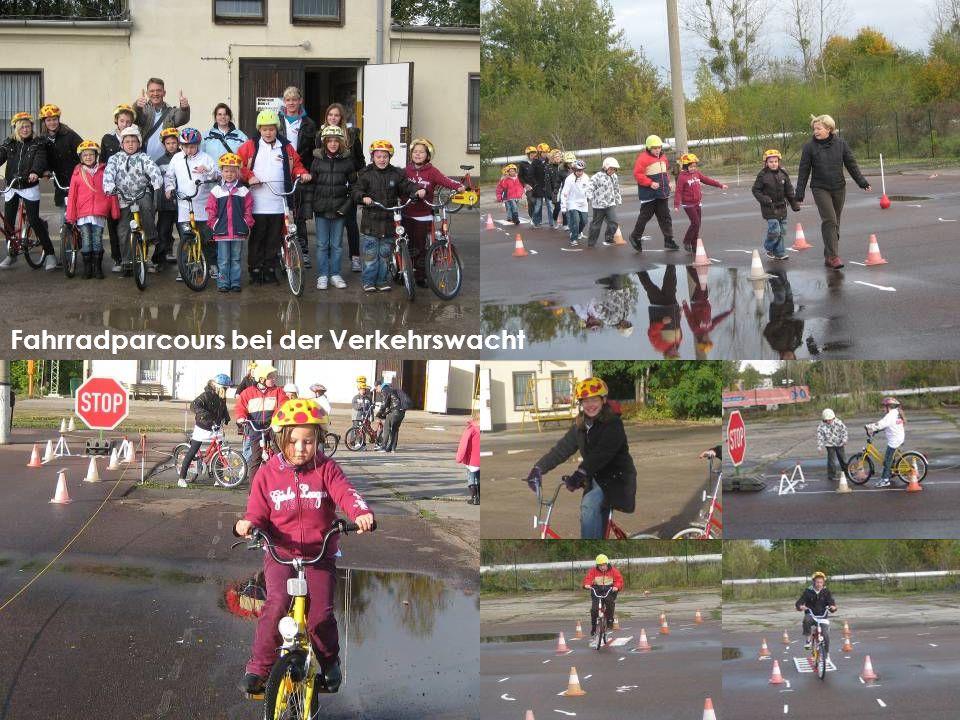 Fahrradparcours bei der Verkehrswacht