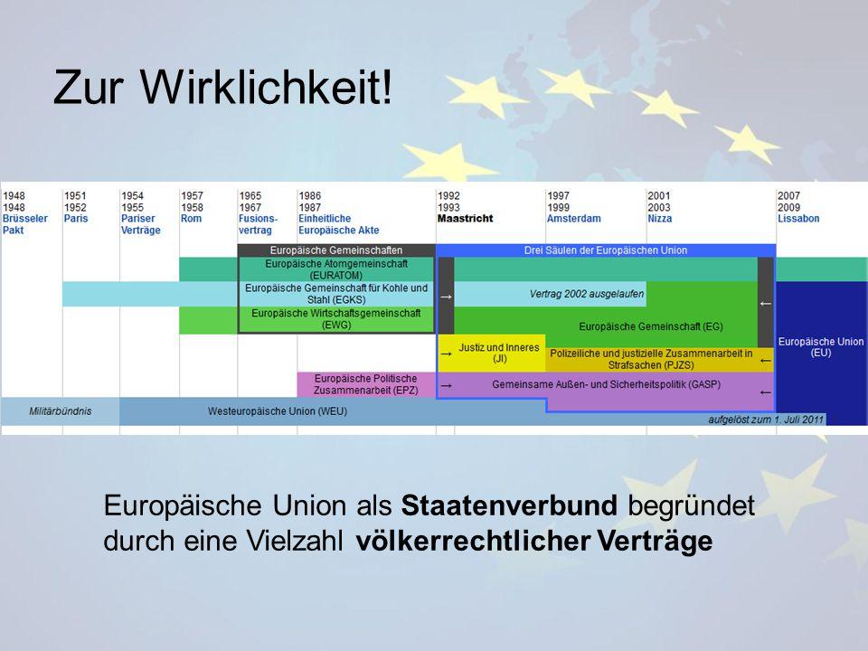 Zur Wirklichkeit! Europäische Union als Staatenverbund begründet