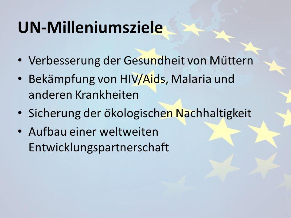 UN-Milleniumsziele Verbesserung der Gesundheit von Müttern