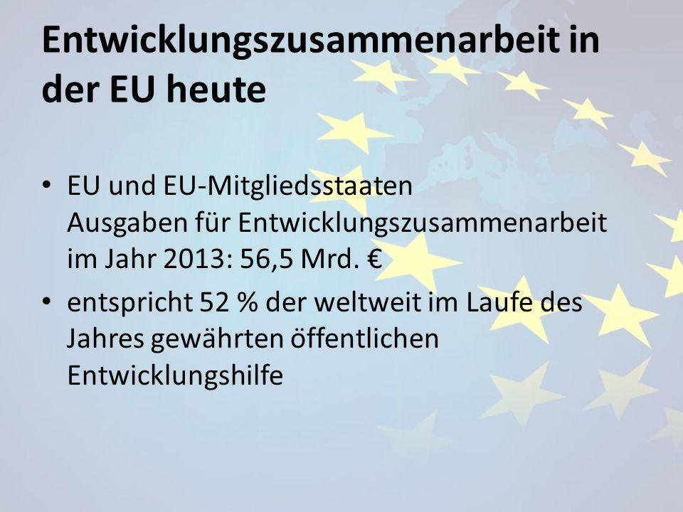 Entwicklungszusammenarbeit in der EU heute