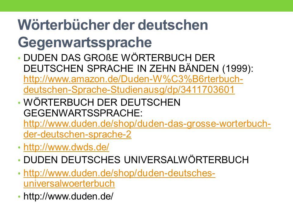Wörterbücher der deutschen Gegenwartssprache
