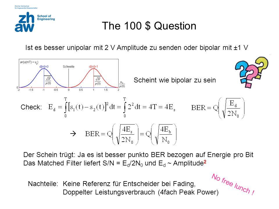 The 100 $ Question Ist es besser unipolar mit 2 V Amplitude zu senden oder bipolar mit ±1 V. Scheint wie bipolar zu sein.