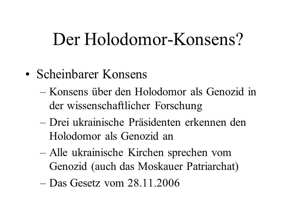 Der Holodomor-Konsens