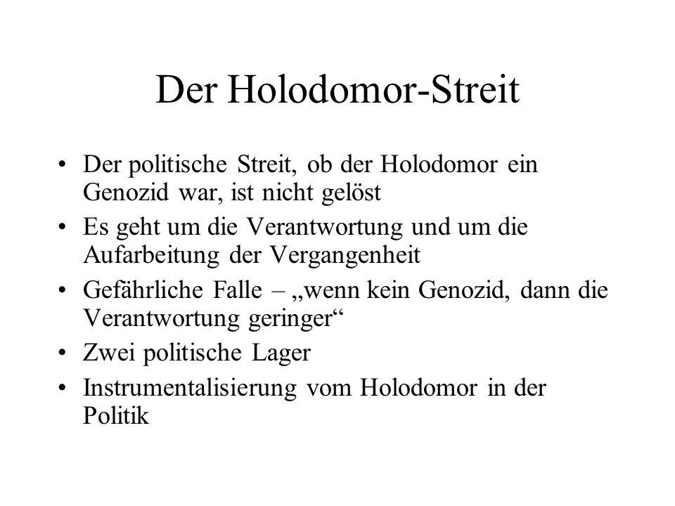 Der Holodomor-Streit Der politische Streit, ob der Holodomor ein Genozid war, ist nicht gelöst.