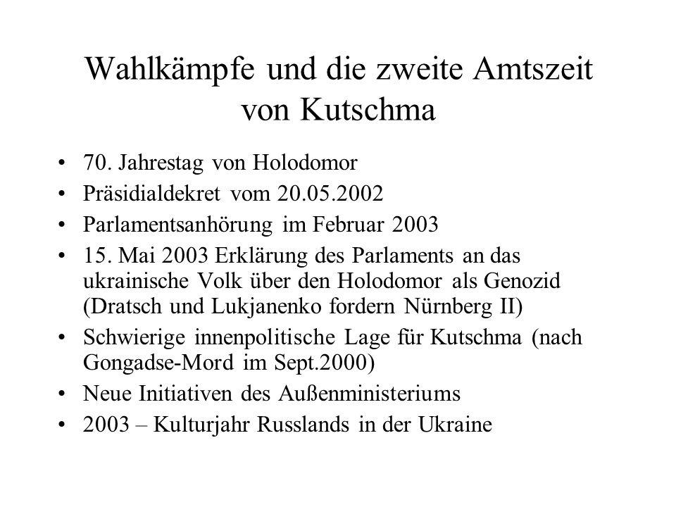 Wahlkämpfe und die zweite Amtszeit von Kutschma