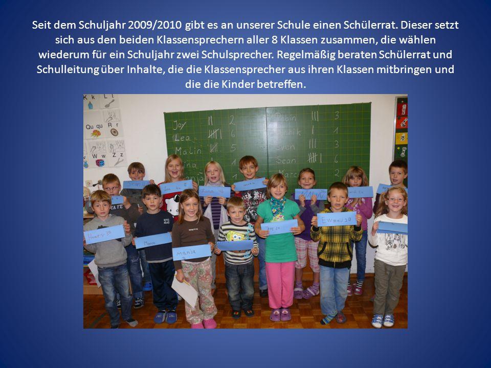 Seit dem Schuljahr 2009/2010 gibt es an unserer Schule einen Schülerrat.