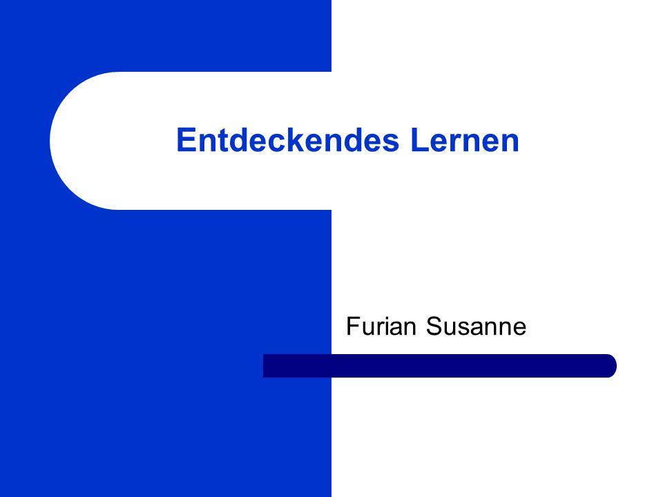 Entdeckendes Lernen Furian Susanne