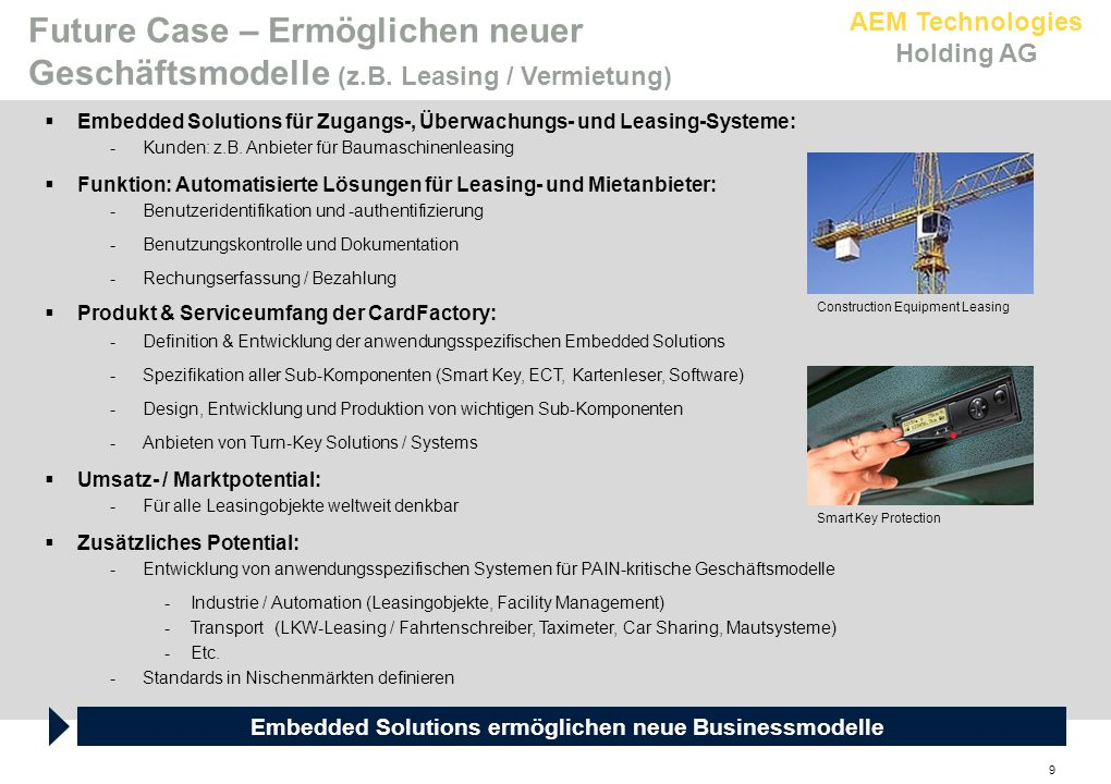 Embedded Solutions ermöglichen neue Businessmodelle