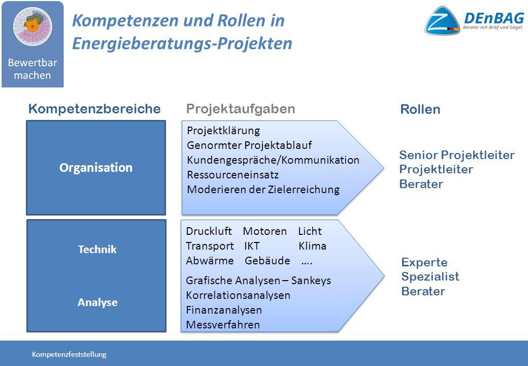 Kompetenzen und Rollen in Energieberatungs-Projekten