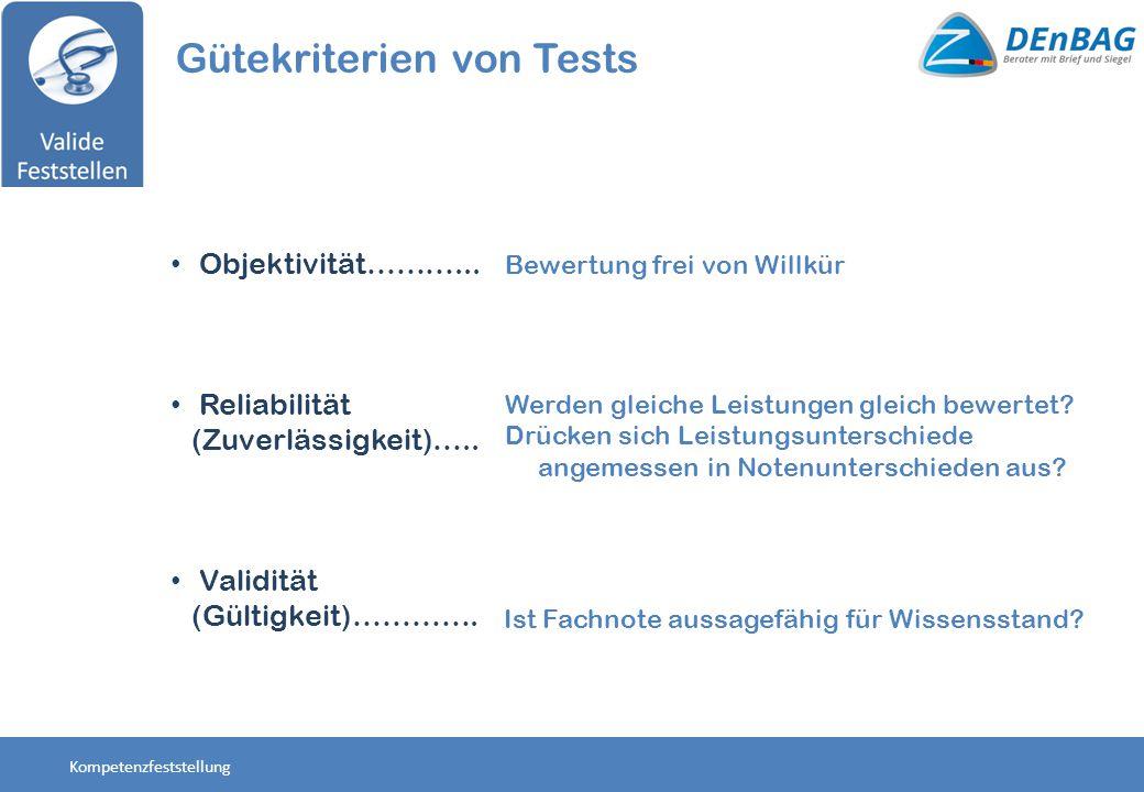 Gütekriterien von Tests
