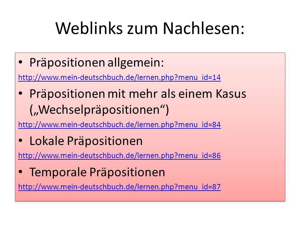 Weblinks zum Nachlesen: